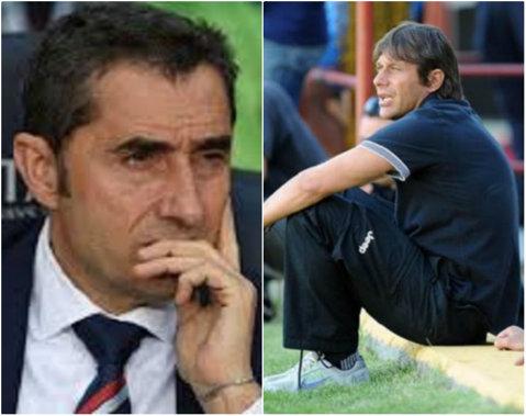 """""""Va trebui să dăm 120%"""" vs. """"Un meci atractiv"""". Conte şi Valverde au reacţionat după ce sorţii le-au pus faţă în faţă pe Chelsea şi Barcelona în optimile Ligii Campionilor"""