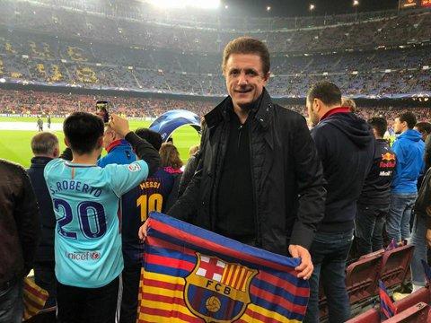 """FOTO   Gică Popescu s-a întors la """"locul faptei"""". După ce a trăit pe viu remontada istorică împotriva lui PSG, """"Baciul"""" a fost pe Camp Nou şi la meciul cu Chelsea"""
