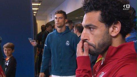 Înaintea meciului l-a privit ca pe un inamic, în cel mai greu moment a servit o lecţie. FOTO | Gestul lui Ronaldo când rivalul Salah a ieşit cu lacrimi în ochi de pe teren