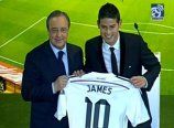 "VIDEO | Prezentarea oficială a lui James Rodriguez la Real Madrid. 10.000 de columbieni, pe Bernabeu. ""E un vis devenit realitate"""