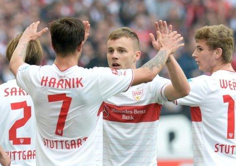 """Din nou Maxim! Românul a făcut spectacol pentru """"şvabi"""": două pase decisive în Frankfurt - Stuttgart 4-5"""