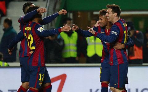 Messi a învins-o de unul singur pe Elche: două goluri şi două pase decisive. Starul Barcei a egalat un record incredibil deţinut de Telmo Zarra