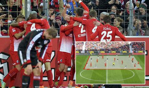 IMAGINEA ZILEI   Cum au fost surprinşi cei 20 de jucători de câmp în timpul partidei Leverkusen - Freiburg din Bundesliga