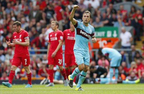 """Catastrofă pentru Liverpool: West Ham United, la prima victorie după 53 de ani pe """"Anfield"""". Chelsea a pierdut cu Crystal Palace, la meciul 100 al lui Mourinho pe propriul teren în PL. City are opt puncte în faţa lui Chelsea"""