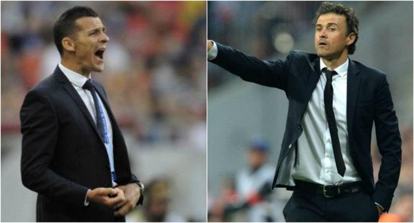 """Marca: """"Luis Enrique şi Gâlcă schimbă imaginea antrenorilor de fotbal"""" Spaniolii, impresionaţi de forma tehnicienilor de la Barça şi Espanyol"""