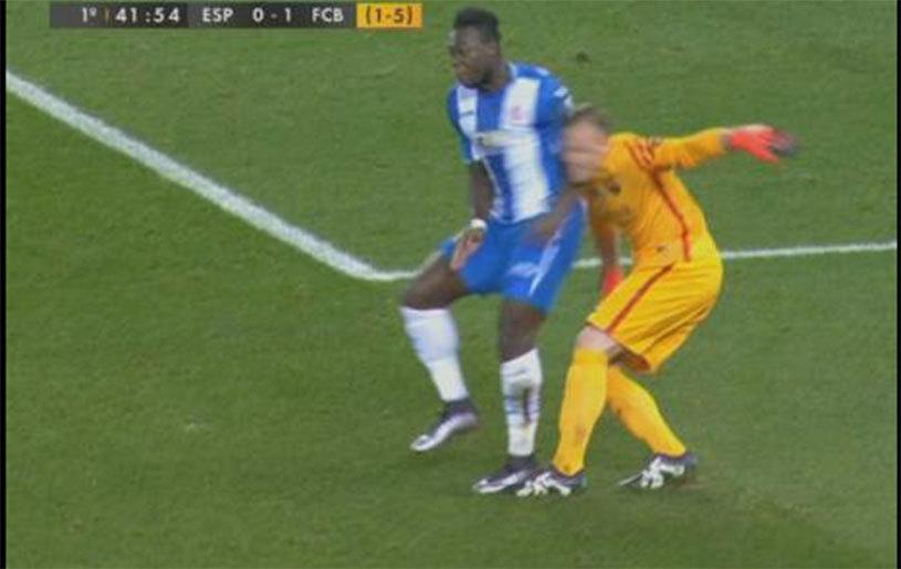 """Caicedo, intrare violentă asupra lui Ter Stegen! Cum s-a """"răzbunat"""" portarul Barcei"""