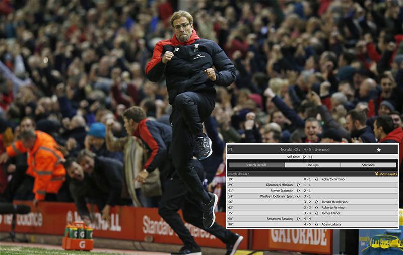 Thriller de poveste în Premier League! Norwich - Liverpool, cel mai NEBUN meci al sezonului. Echipa lui Klopp a câştigat cu 5-4 în minutul 90+5, după ce a revenit de la 1-3