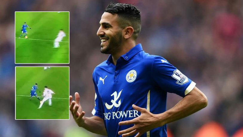 """VIDEO FABULOS Cum să """"RUNIEZI"""" cariera unui jucător dintr-un dribling. Ce a reuşit magicianul Riyad Mahrez pe terenul de fotbal"""