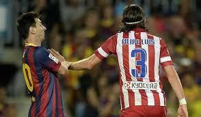 Filipe Luis a fost suspendat 3 etape după faultul dur la Messi