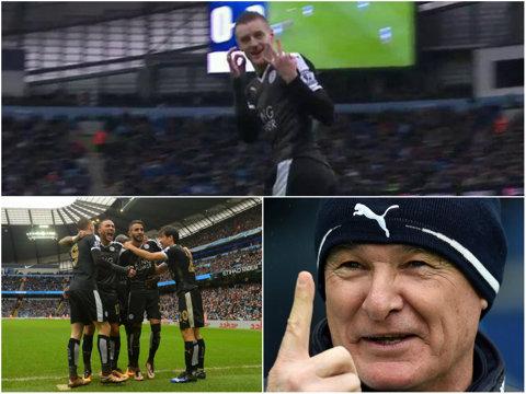 Se scrie una dintre cele mai frumoase poveşti din istoria fotbalului! Nimeni nu mai râde de Ranieri după ce Leicester a bătut-o şi pe City! Anglia, în faţa unei surprize de proporţii
