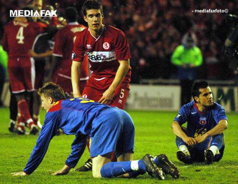 """""""Coşmarul"""" Stelei are şansa revenirii în Premier League după şapte ani. Comparaţia dintre Steaua şi Middlesbrough, la 10 ani de la """"minunea"""" de pe Riverside Stadium"""