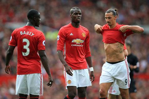 """United s-a distrat cu campioana Leicester, scor 4-1. Pogba, primul gol pentru """"diavoli"""". FOTO: Sosia lui Zlatan a intrat pe teren :). Cum a reacţionat suedezul"""