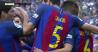 """Barcelona a câştigat la ultima fază, iar fanii Valenciei au înnebunit! VIDEO   Neymar, Suarez şi Mascherano au căzut ca seceraţi, Messi s-a înjurat cu suporterii """"liliecilor"""""""