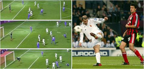 """""""Golul ăsta va rămâne în istorie! Nu e NORMAL!"""" Zidane, încântat de execuţia lui Nacho care îi """"bate"""" golul fabulos înscris în finala Champions League din 2002. VIDEO"""