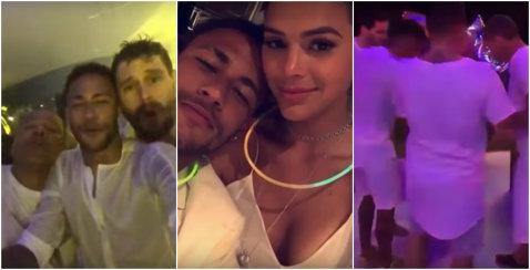 Aşa a intrat Neymar în 2017! VIDEO | Imagini de la petrecerea organizată de starul Barcelonei în Brazilia