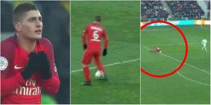 Marco Verratti a primit CEL MAI CIUDAT cartonaş galben al sezonului! Explicaţia dată de arbitru după meci şi ce s-a întâmplat. VIDEO