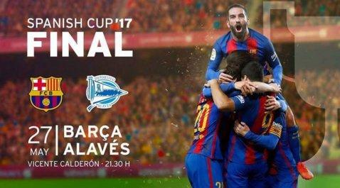 Nu a câştigat nimic în acest sezon. Ultima şansă a Barcelonei să ridice un trofeu este în finala Cupei Regelui. Barcelona şi Alaves şi-au personalizat echipamentele
