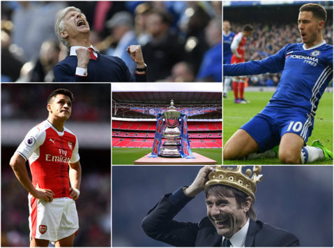 """Sezon salvat pentru Wenger! Arsenal câştigă Cupa Angliei, pe Wembley, după 2-1 cu Chelsea. Alexis Sanchez şi Ramsey au marcat golurile """"tunarilor"""", Diego Costa a înscris pentru campioni"""