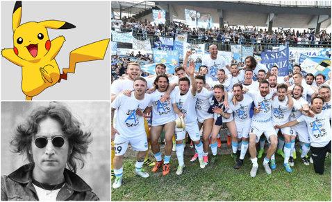 Nici nu vor să audă de James sau Mbappe! O nou-promovată din Serie A e la un pas să-i transfere pe John Lennon şi Pikachu :)