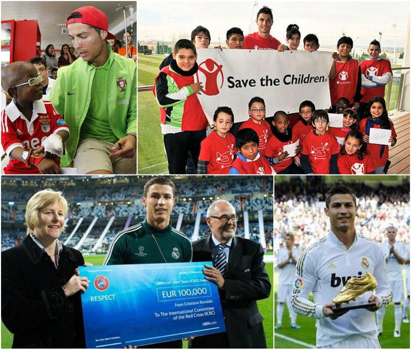"""Inima de aur din spatele aroganţei. Cristiano Ronaldo şi milioanele donate în scopuri caritabile: de la victimele cutremurului din Nepal la copiii nevoiaşi din Palestina. """"Tatăl meu m-a învăţat să-i ajut pe ceilalţi"""""""