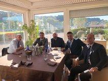 GALERIE FOTO | Mutu şi Contra, vizită de lucru la Roma! Cei doi s-au întreţinut cu Totti, Deco, Monchi şi conducerea clubului giallorossa