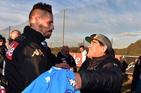 Seara în care un jucător special a intrat în istoria lui Napoli. VIDEO   Aşa a ajuns Hamsik egalul marelui Maradona