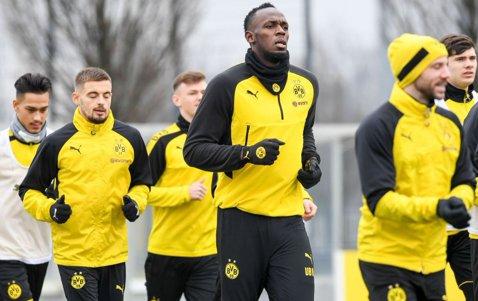 Usain Bolt s-a antrenat pentru prima dată cu Borussia Dortmund! VIDEO | Cum s-a descurcat cel mai rapid om al planetei