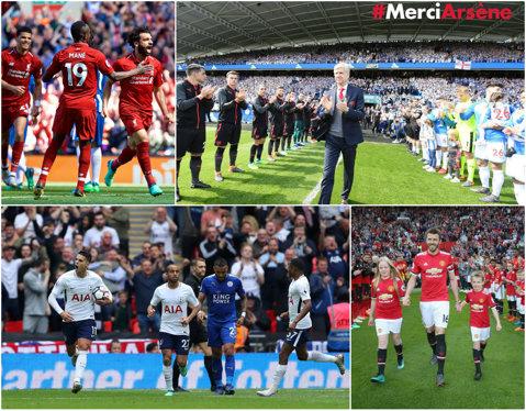 It's over! Final plin de evenimente în Premier League: Carrick şi Wenger s-au despărţit de United şi Arsenal, Liverpool a prins ultimul bilet pentru Liga Campionilor, City a ajuns la 100 de puncte, Tottenham şi Leicester au marcat 9 goluri pe Wembley