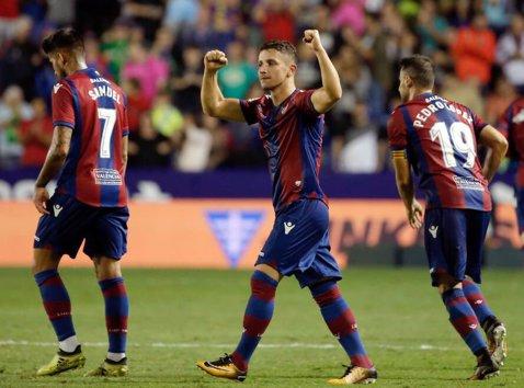 """A """"ucis-o"""" pe Barcelona în campionat, cu o dublă, şi a intrat în atenţia a două cluburi uriaşe! PSG şi Inter vor un fotbalist de la Levante"""