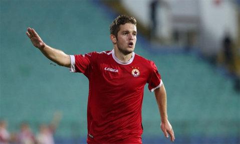 Sergiu Buş, erou la ŢSKA. Fostul atacant al CFR-ului a înscris în derby-ul cu Levski şi este golgheterul Bulgariei