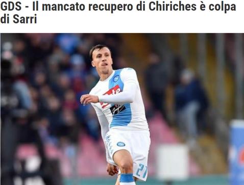 Chiricheş, urmărit de greşeala antrenorului! Fundaşul român mai are de aşteptat până va reveni la Napoli. Anunţul presei din Italia