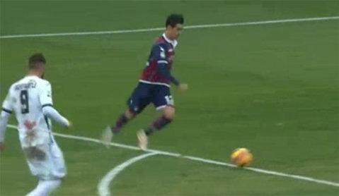 VIDEO Adrian Stoian a înscris din nou în Serie A! Execuţia perfectă a românului din Crotone - Cagliari 1-2