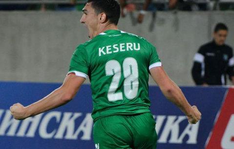 Claudiu Keşeru a marcat două goluri în meciul Ludogoreţ - Vereya, scor 3-1