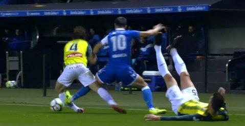 """Meci nereuşit pentru Florin Andone! FOTO   Îi putea rupe piciorul unui adversar după o intrare criminală, apoi a lovit bara. Deportivo nu iese din """"zona roşie"""""""