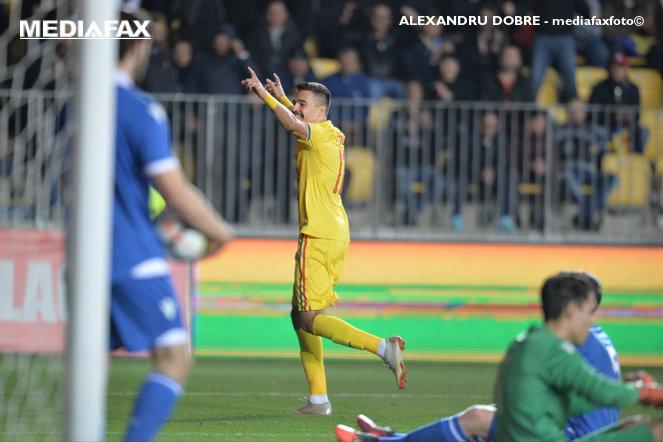 Adi Petre, în România U21 - Liechtenstein U21 4-0, meciul care a adus oficial calificarea la EURO 2021