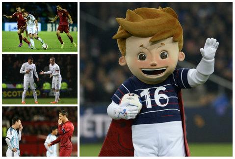 Amicale de lux decise în ultimele minute de joc. Spania - Germania 0-1, Portugalia - Argentina 1-0 şi Franţa - Suedia 1-0