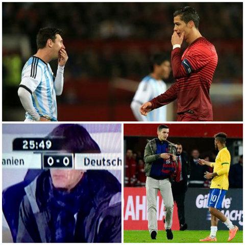 """Dialog Messi - Ronaldo, """"răzbunări"""" şi o sesiune de autografe în timpul meciului Austria - Brazilia. Cele mai importante momente din amicalele de marţi   FOTO"""