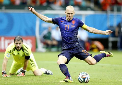Arjen Robben va fi indisponibil patru săptămâni