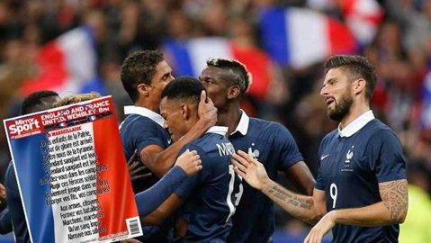 Gest ISTORIC al englezilor înainte de amicalul cu Franţa! Cum arată paginile de sport din Mirror şi The Sun | FOTO