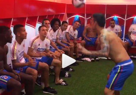 VIDEO GENIAL | Distracţie cu James Rodriguez în vestiarul Columbiei. Cum se termină faza, în uralele jucătorilor