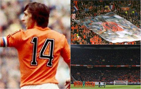 Fotbalul s-a OPRIT pentru Johan Cruyff. Momente emoţionante în Olanda - Franţa! Reacţia publicului de pe ArenA în minutul 14