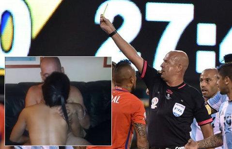 FOTO   Arbitrul finalei Copa America a petrecut cu două prostituate după meci! Cum a fost fotografiat