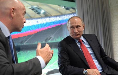 Preşedintele FIFA a fost în vizită în Rusia şi s-a întâlnit cu Vladimir Putin. Primele probleme care au apărut la Cupa Confederaţiilor