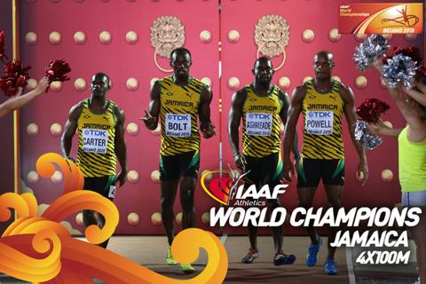 CM DE ATLETISM | Ştafeta 4 X 100 m nebună ca Bolt: Jamaica, de nebătut. China, de pe culoarul 9 în al 9-lea cer: Gay şi Rodgers şi-au făcut KO echipa la ultimul schimb şi SUA a fost descalificată, iar gazdele câştigă argintul