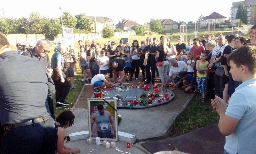 """Rămas bun, """"Uriaşule"""". Atleţii români l-au condus pe Gheorghe Guşet pe ultimul drum"""