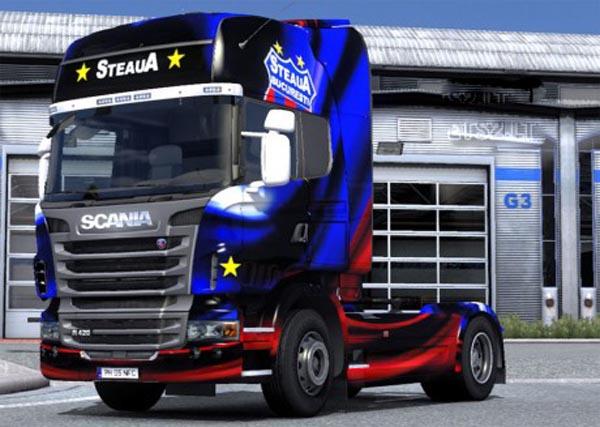 FOTO | Un fan al Stelei a realizat un skin de TIR Scania pentru jocul Euro Truck Simulator 2
