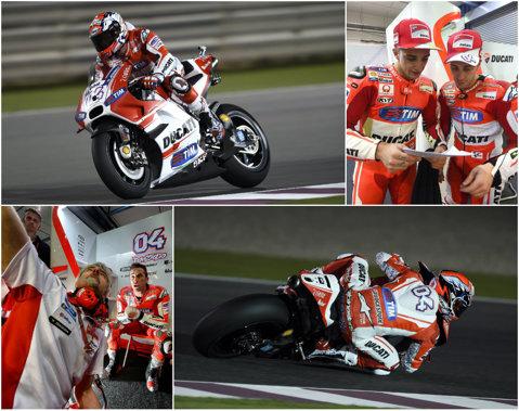 Ducati renaşte în MotoGP! Dovizioso a obţinut pole position la debutul sezonului, în Qatar. Calificări dezastruoase pentru Rossi şi Lorenzo