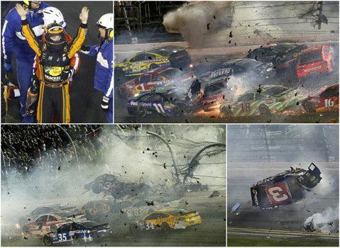 VIDEO | Aproape de o tragedie imensă în NASCAR! La peste 200 km/h, Austin Dillon a fost proiectat în zidul circuitului de la Daytona. 13 spectatori au fost răniţi