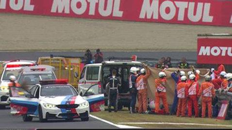 Alex de Angelis, implicat într-un accident teribil pe circuitul din Japonia! Pilotul din San Marino a fost transportat la spital cu elicopterul