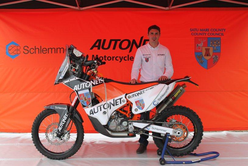 Emanuel Gyenes, locul 17 în etapa a zecea a raliului Dakar 2016, la clasa moto